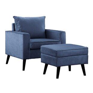 Brisson Arm Chair and Ottoman by Ebern Designs