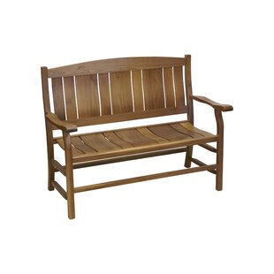 Dostal Walnut Wooden Garden Bench by Darby Home Co