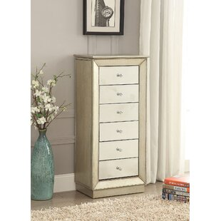 Rosdorf Park Windsor Free Standing Jewelry Armoire with Mirror