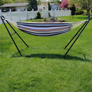 Poirier Cotton Double Hammock with Stand