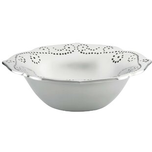 French Perle Metal Serving Bowl by Lenox