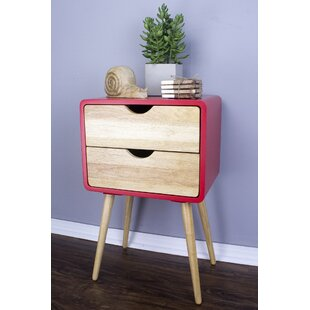 Hendrum Euro 2 Drawers End Table