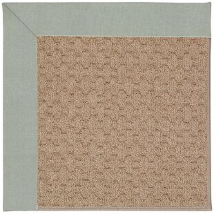 Lisle Machine Tufted Marine Blue and Beige Indoor/Outdoor Area Rug