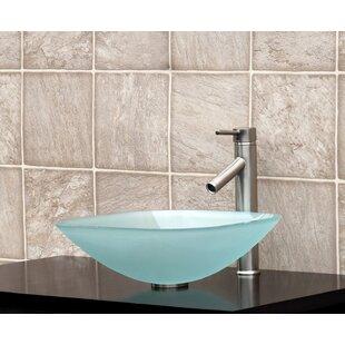 Glass Square Vessel Bathroom Sink ByVanitesse