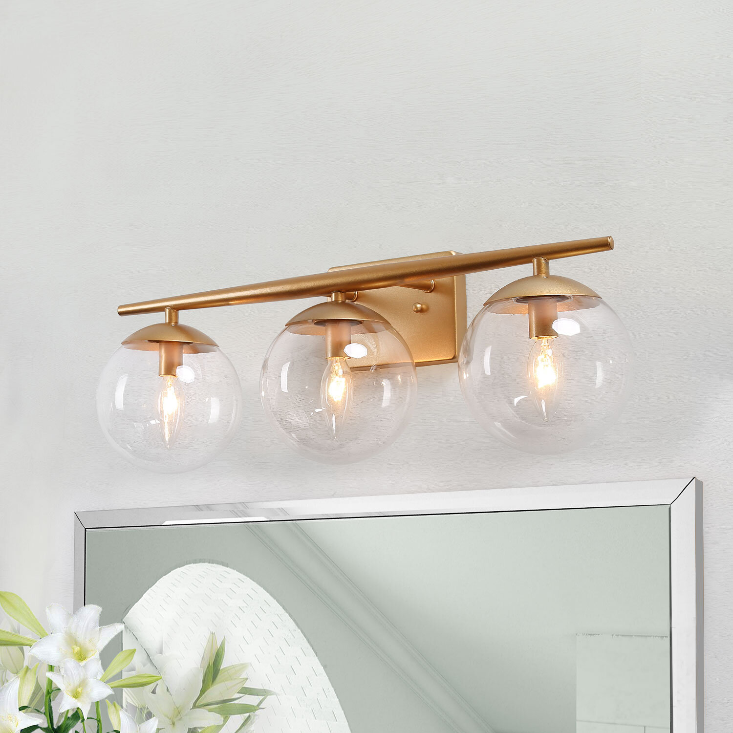Gold Mid Century Modern Bathroom Vanity Lighting You Ll Love In 2021 Wayfair