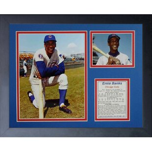 Ernie Banks Chicago Cubs Framed Memorabilia by Legends Never Die