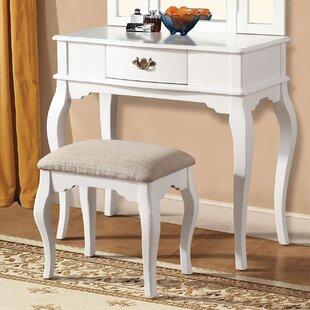Maren White Vanity Set by A&J Homes Studio