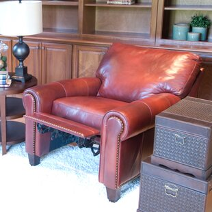Garret Leather Manual Recliner by Elements Fine Home Furnishings