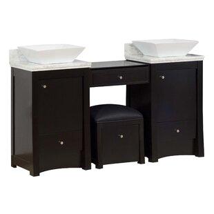 Kimbrell Free-Standing 61 Double Bathroom Vanity Set ByRoyal Purple Bath Kitchen