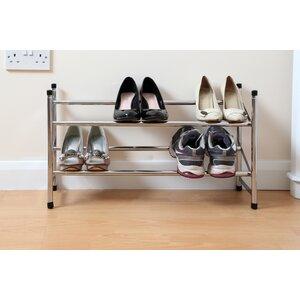 Stapelbares Schuhregal für 6 Paar Schuhe von All Home