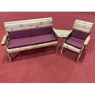 Galindo Wooden Love Seat By Union Rustic