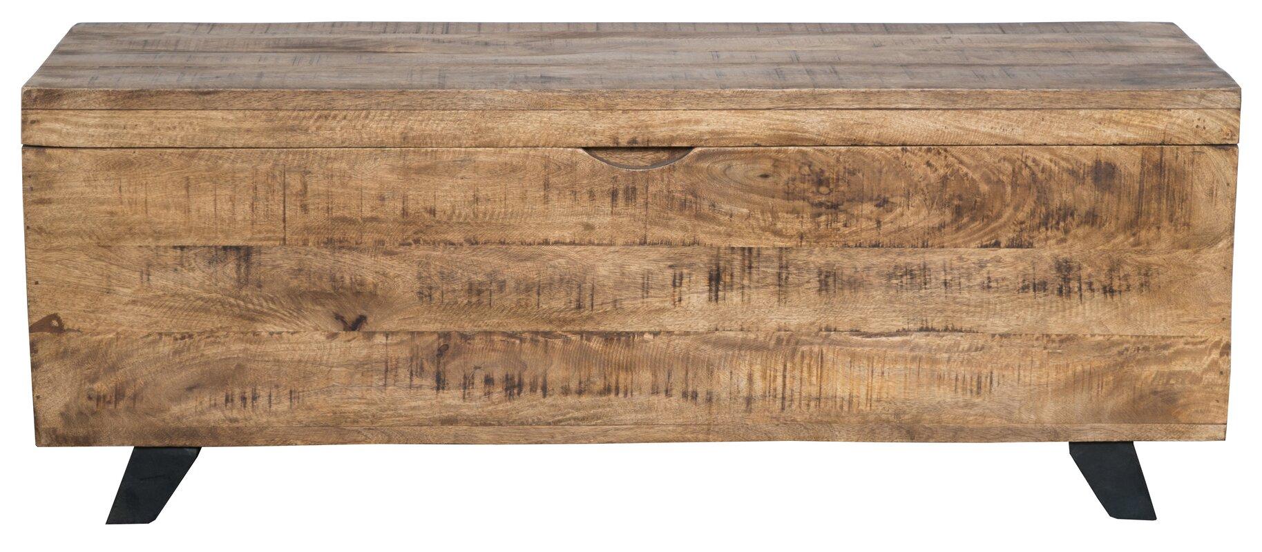 Glenns Storage Trunk #rustic #wood #trunk #coffeetable
