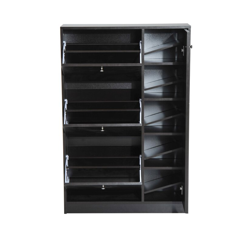 Latitude Run Pull Out Door 28 Pair Shoe Storage Cabinet Reviews