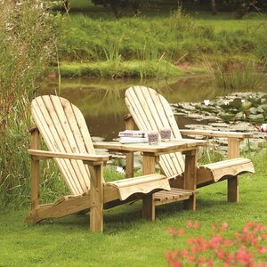 buckeye 2 seater wooden love seat by lynton garden - Wooden Garden Furniture Love Seats