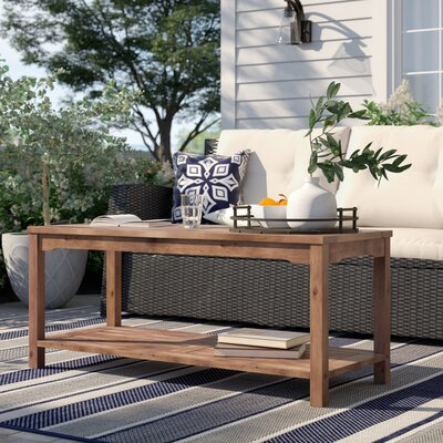 Laverock Wooden Coffee Table by Sol 72 Outdoor Great Reviews