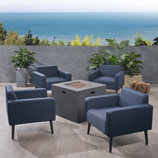Breckenridge Outdoor 5 Piece Multiple Chairs Seating Group with Cushions
