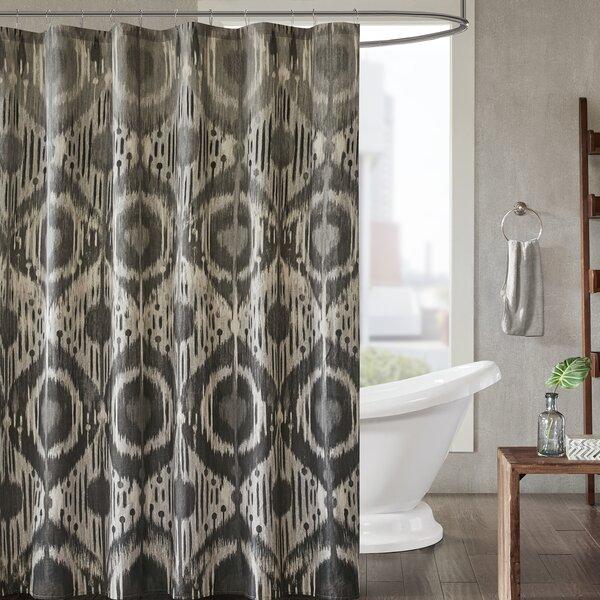 Bungalow Rose Prosser Cotton Printed Shower Curtain   Wayfair