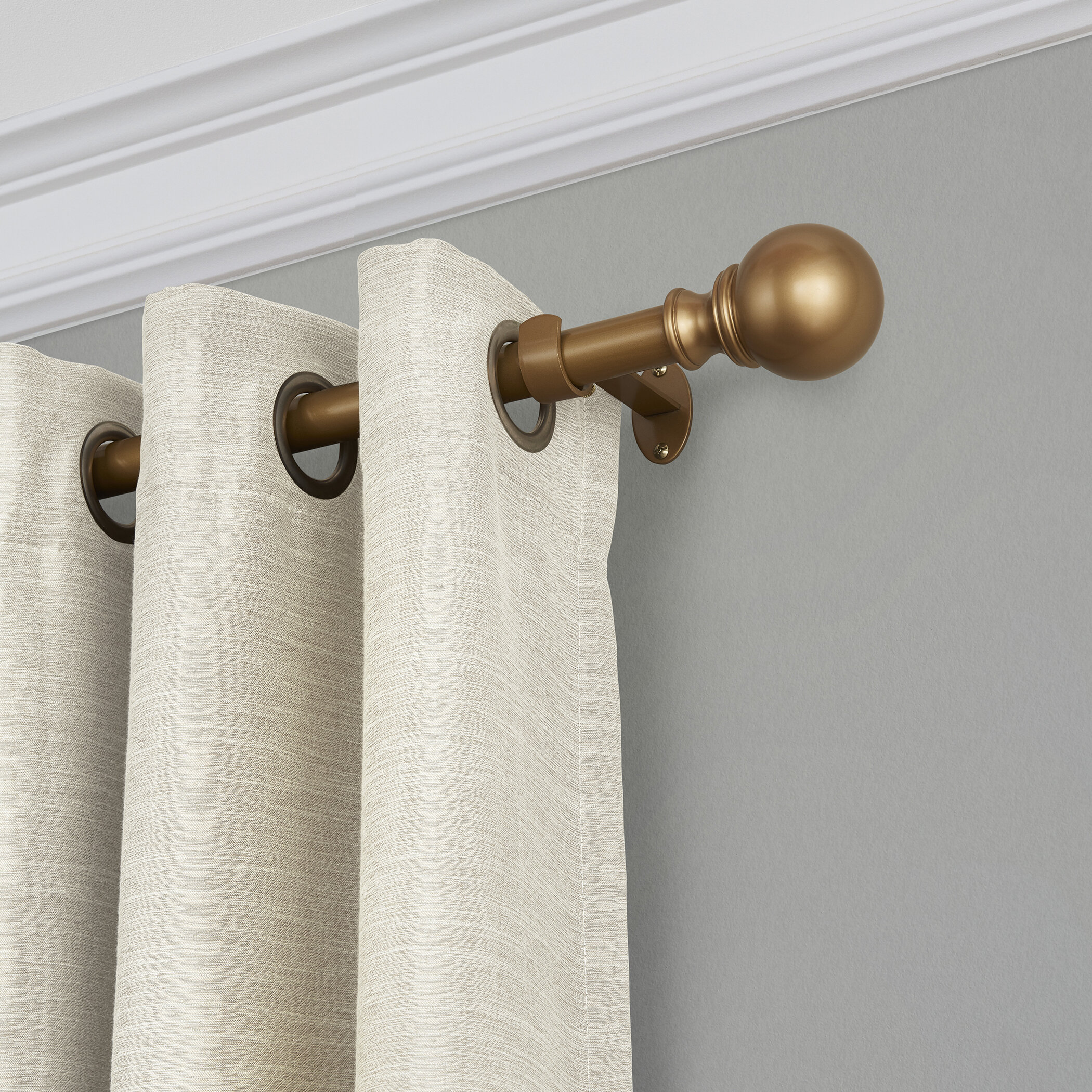 Alcott Hill Darion Adjustable Single Curtain Rod Reviews Wayfair