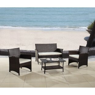Barnhart 4 Piece Sofa Set with Cushions