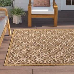 Dominick Light Brown Indoor/Outdoor Area Rug