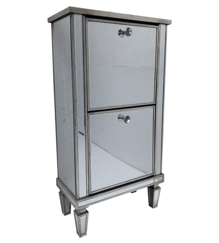 Vintage Glam 8 Pair Shoe Storage Cabinet