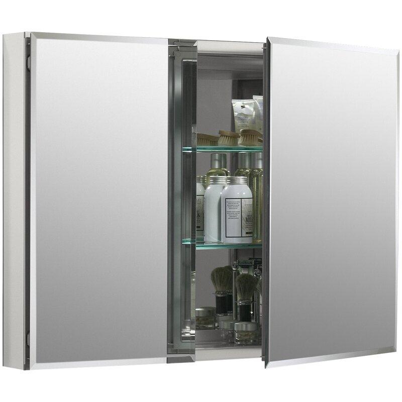 K Cb Clc3526fs Kohler 35 X 26 Aluminum Two Door Medicine Cabinet