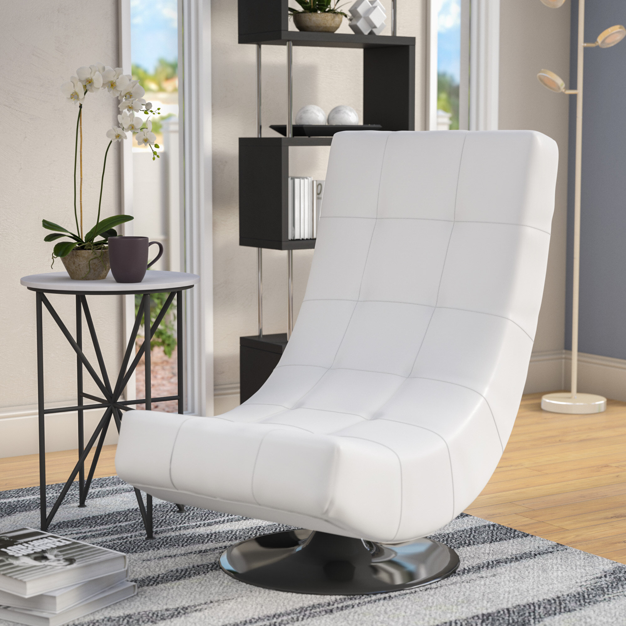 Fabulous Wade Logan Helle Swivel Lounge Chair Reviews Wayfair Pabps2019 Chair Design Images Pabps2019Com