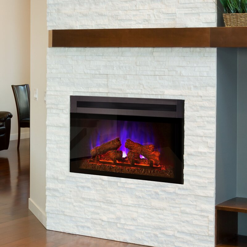 Orren Ellis Kingsley Custom Designer Electric Fireplace Insert Wayfair