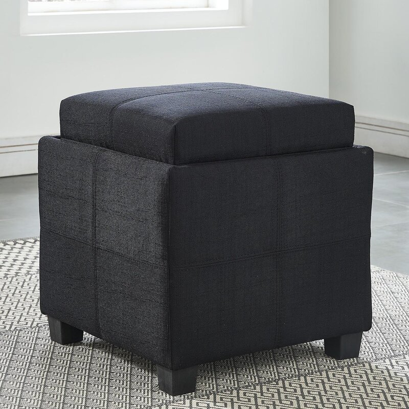 Peachy Pimentel Storage Ottoman Gmtry Best Dining Table And Chair Ideas Images Gmtryco