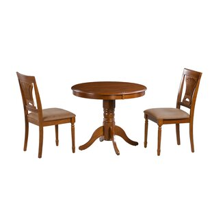 Inwood 3 Piece Solid Wood Dining Set DarHome Co