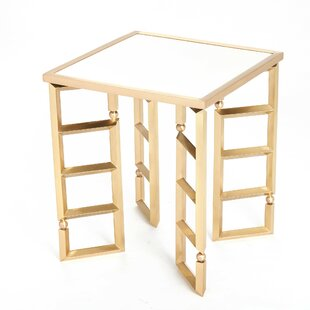 Beveled Leg End Table by Global Views