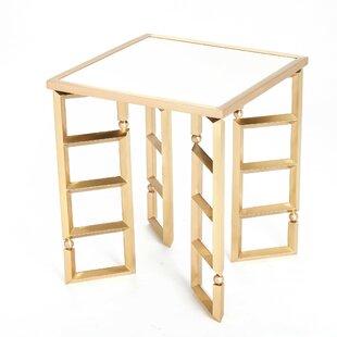 Beveled Leg End Table