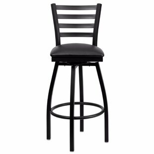 Dryden 32 Swivel Bar Stool with Cushion Red Barrel Studio
