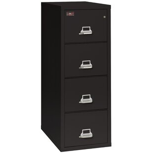 Fireproof 4-Drawer 2-Hour Rated Vertical File Cabinet by FireKing