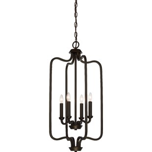 Duncan 4-Light Geometric Chandelier by Gracie Oaks