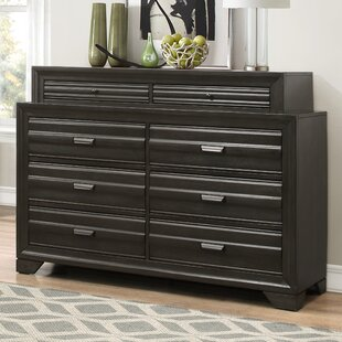 Roundhill Furniture Loiret Wood 8 Drawer ..