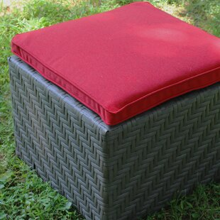 Jamarion Outdoor Ottoman with Sunbrella Cushion by Brayden Studio