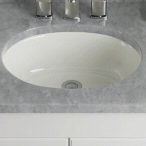 Porcelain Oval Undermount Bathroom Sink
