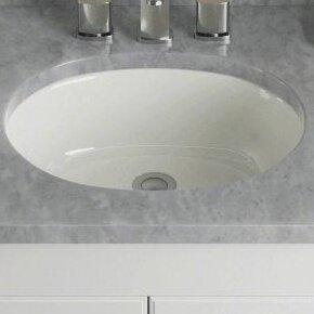 Porcelain Oval Undermount Bathroom Sink