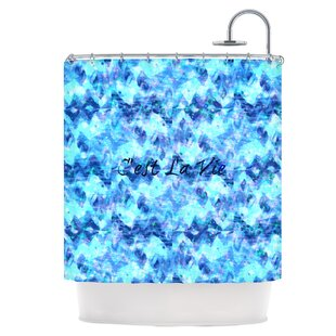 C'est La Vie Revisited Single Shower Curtain