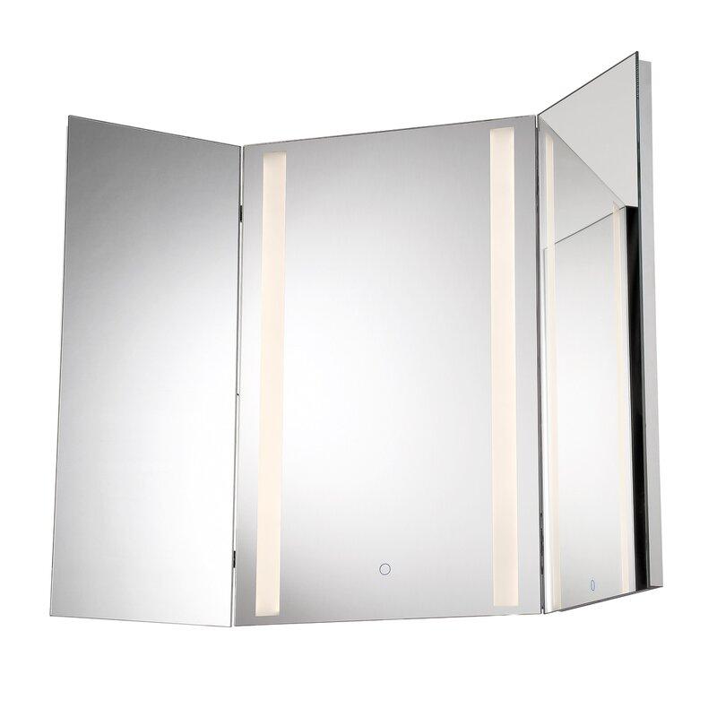 Eurofase Tri Fold Led Vanity Mirror Reviews Wayfair