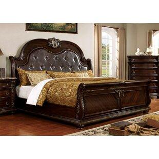 Gardener Upholstered Sleigh Bed by Astoria Grand Comparison