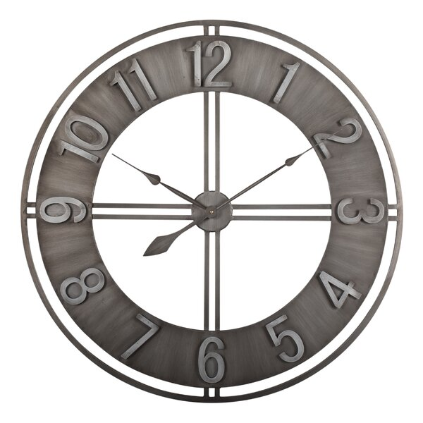 Studio Designs HOME Oversized Industrial Loft Metal 30 Wall Clock