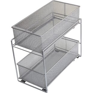 2 Tier Mesh Roll Out Cabinet Organizer Drawer