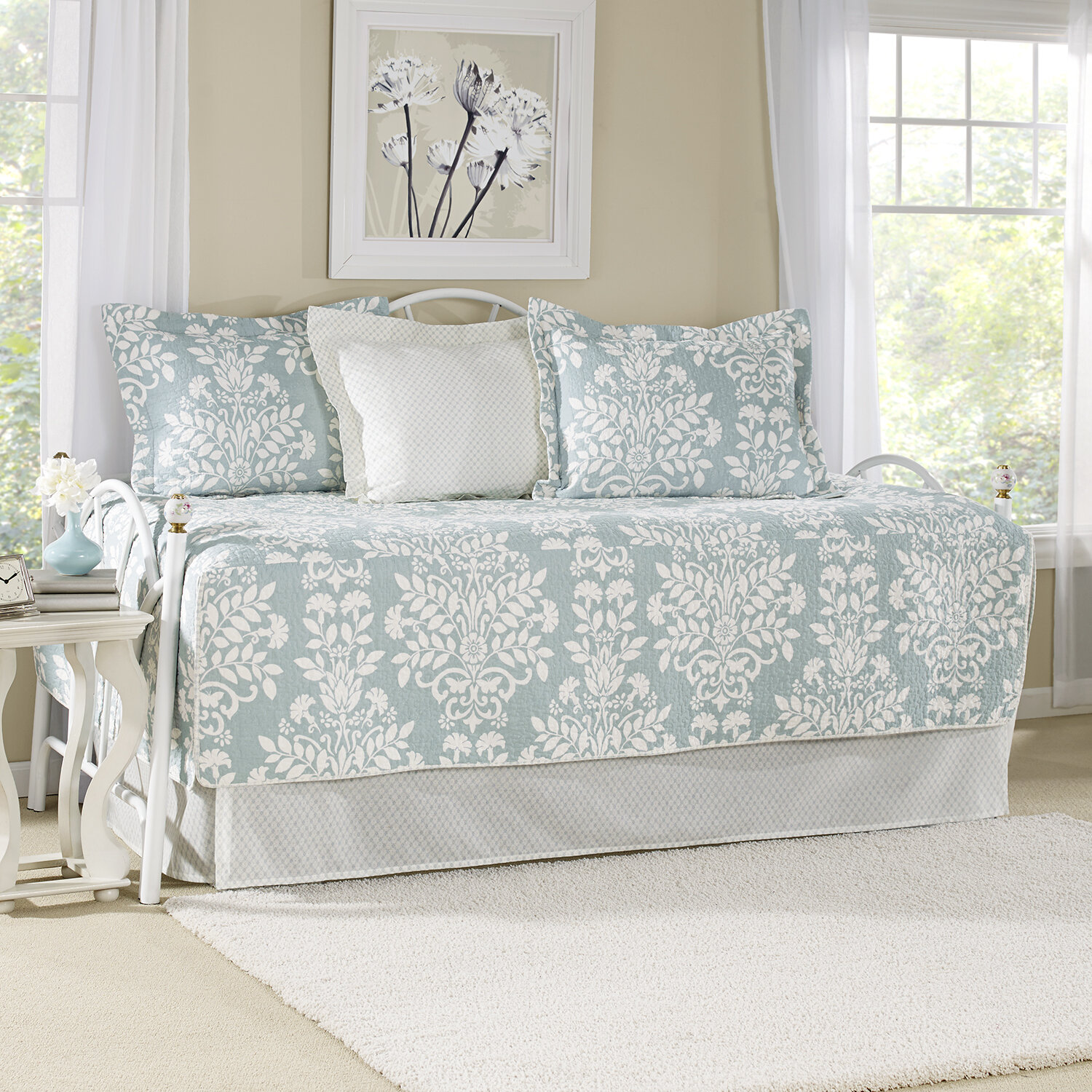 - Laura Ashley Rowland Breeze Blue Daybed Cover Set & Reviews Wayfair