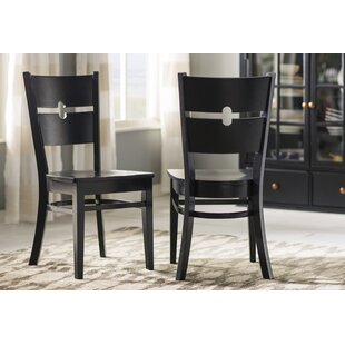 Langwater Ladder Back Solid Wood Dining Chair (Set of 2)
