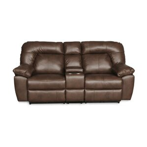 Zhenyu Reclining Loveseat with Console by Re..