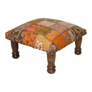 Patchwork and Embroidered Ottoman by Divine ..