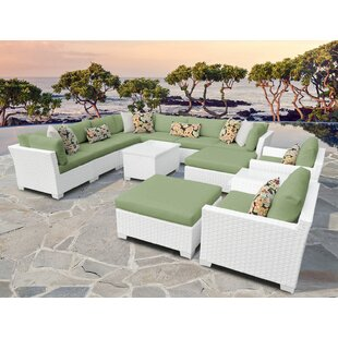 Monaco 13 Piece Sectional Seating Group with Cushions