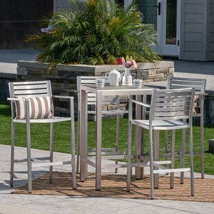 Orren Ellis Outdoor 5 Piece Bar Set